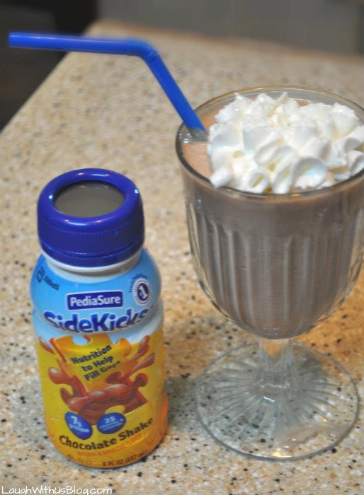 Double Chocolate Peanut Butter Shake recipe with #PediaSure #Sidekicks #ForPickyEaters