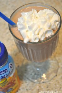 Double Chocolate Peanut Butter Shake for kids!