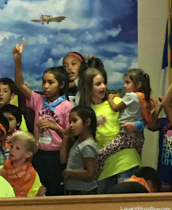 Navajo Reservation VBS Kids Singing