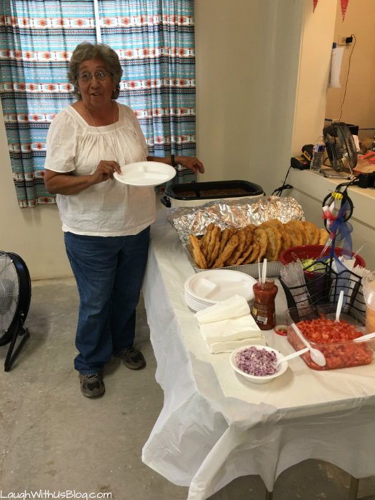 Navjo Reservation VBS How to eat Navajo Tacos