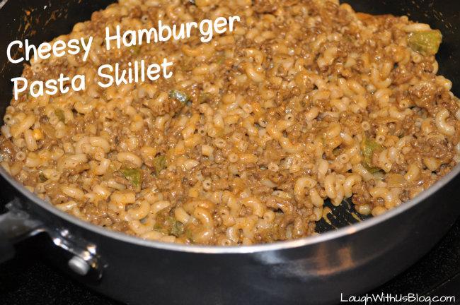 Cheesy Hamburger Pasta Skillet