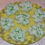 St. Patrick's Day Rice Krispie Shamrock Treats