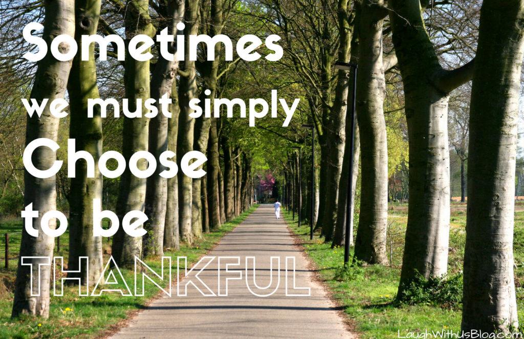 Choose Thankfulness as a Mom