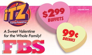 A Sweet Valentine Deal at iT'Z Family Food & Fun!  Euless, Texas