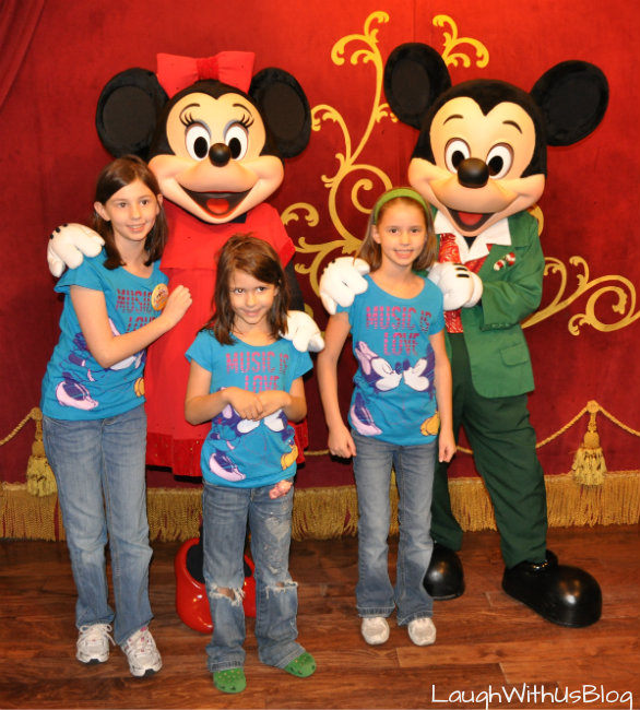 Photos with Mickey and Minnie