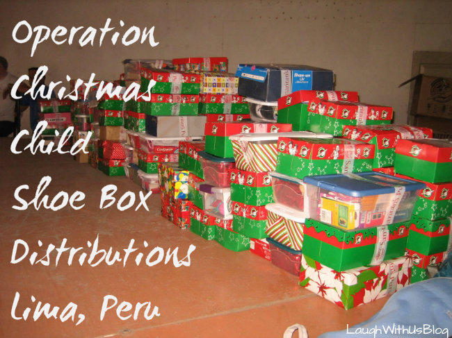 Christmas Child Boxes.Operation Christmas Child Distribution Trip
