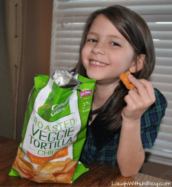 Roasted Veggie Tortilla Chips #AGiantSurprise