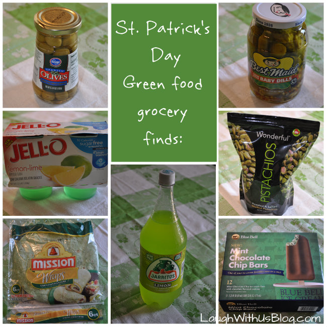 St Patrick's Day Green food grocery finds