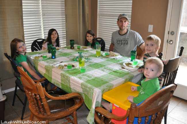 St. Patrick's Day Green Meal