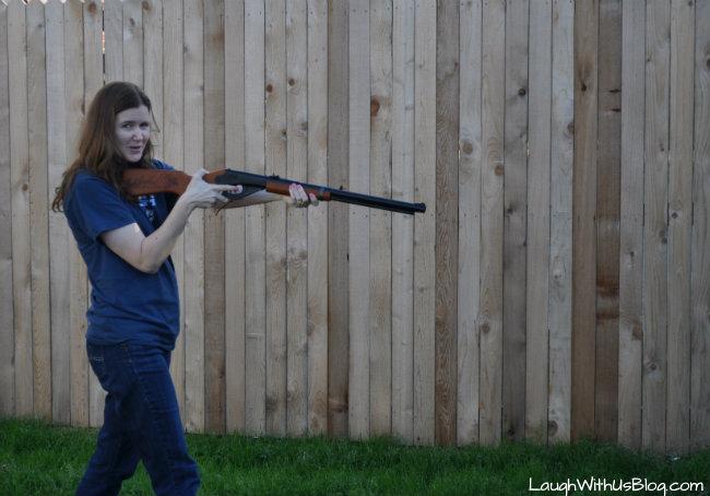BB Gun target shooting