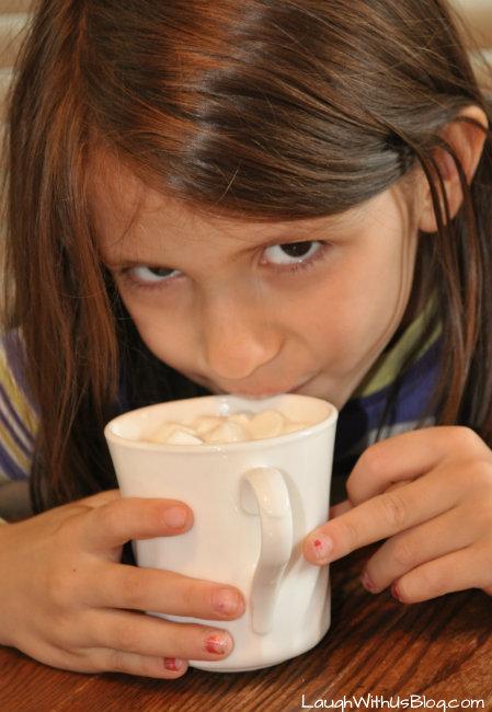 Enjoy Hot Vanilla Milk