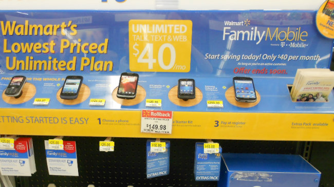 Walmart $40 Unlimited Plan
