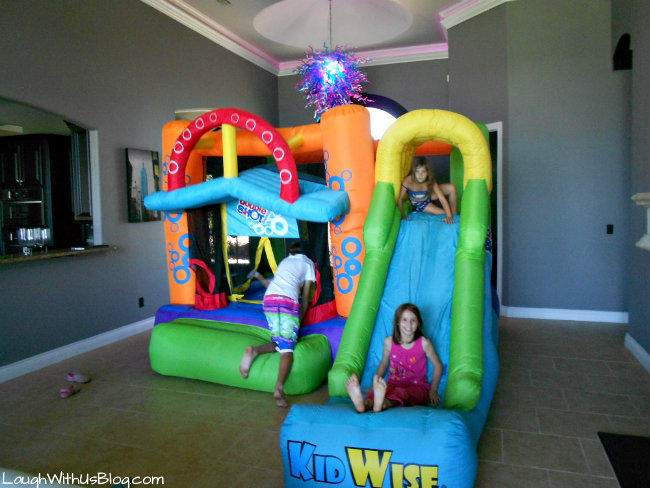 Bounce house in house