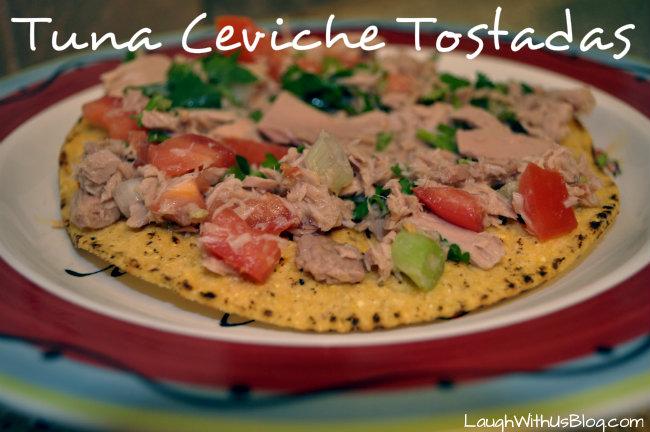 Tuna Ceviche Tostadas