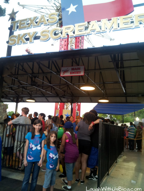 In line at the Texas Sky Screamer
