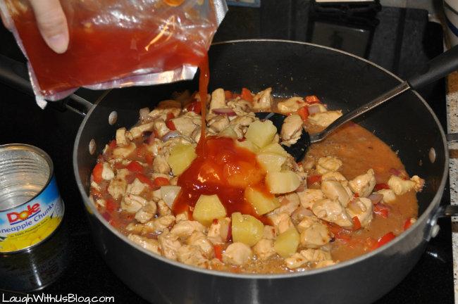 Add finishing sauce