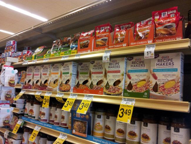 Kraft Recipe Makers in store