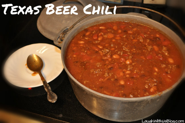 Pot of Texas Beer Chili