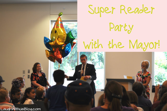 Super reader party with the mayor