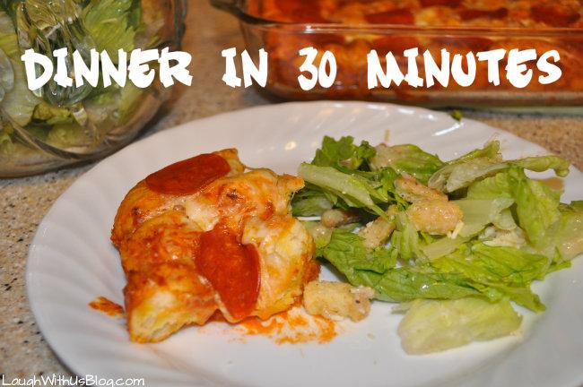 Dinner in 30 minutes #spon