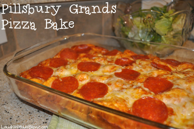 Pillsbury Grands Pizza bake #spon