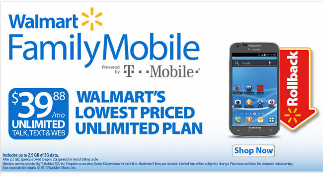 Walmart Family Mobile Rollback Pricing #Shop