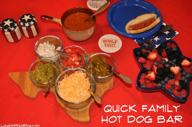 Quick Family Hot Dog Bar #1TexasChili #ad