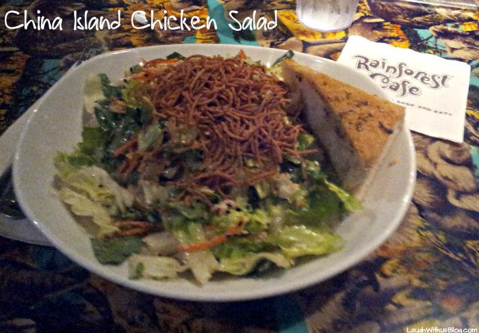 China Island Chicken Salad Rainforest Cafe