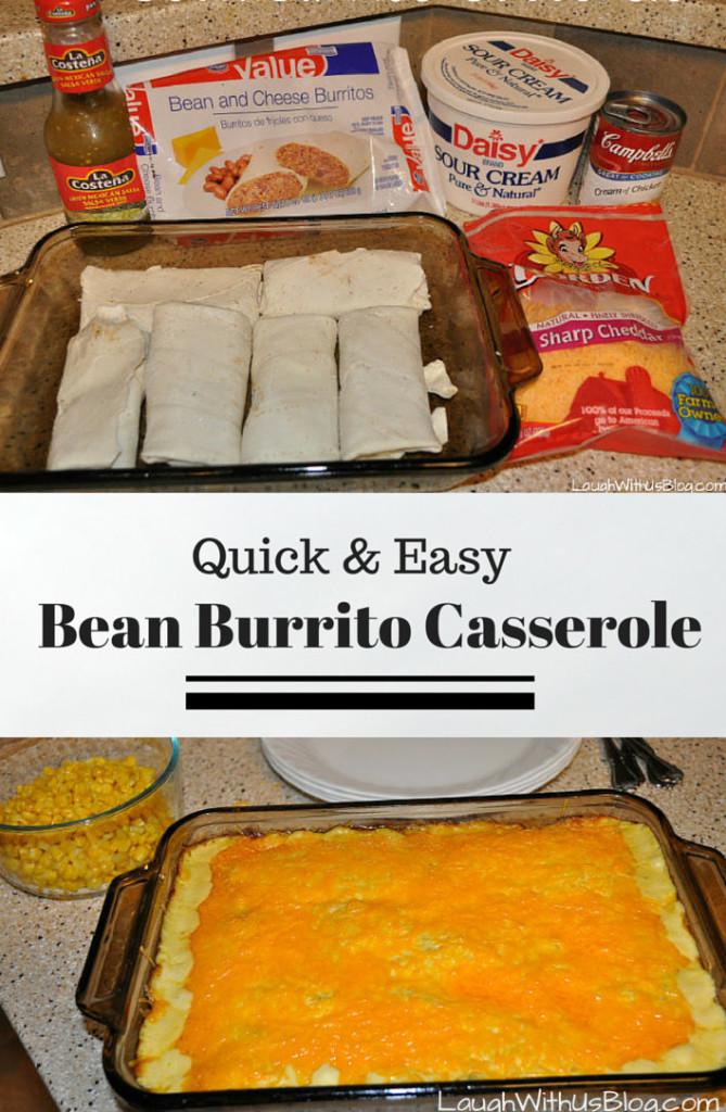 Quick and Easy Bean Burrito Casserole