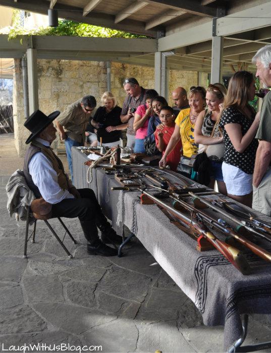 antique weapon exibit at the Alamo