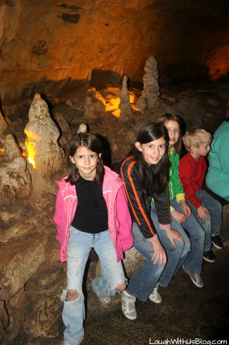 in the cave Natural Bridge Caverns #ad