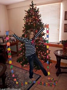 Kid Decorated Christmas Tree at Grandma's House
