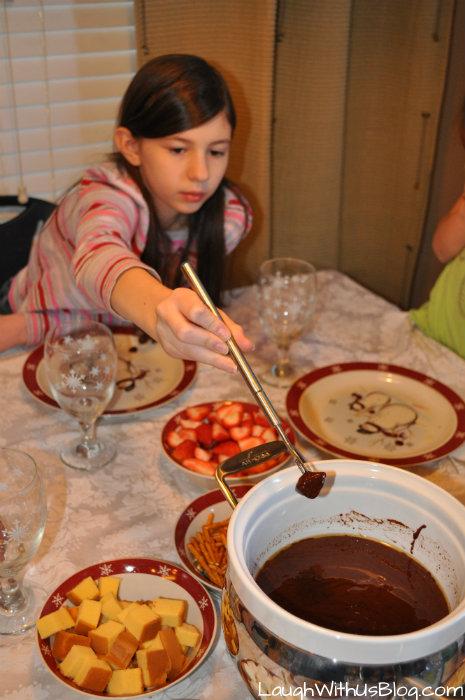 Chocolate fondue fun