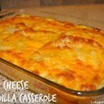 Ham and Cheese Quesadilla Casserole