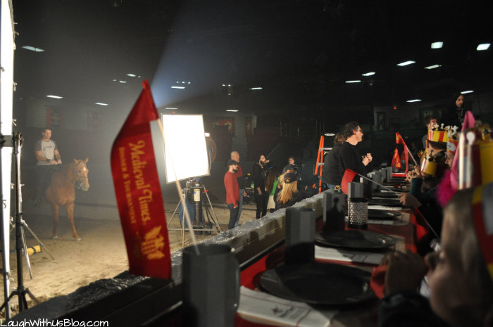 Filming Medieval Times Commercial #MTfan