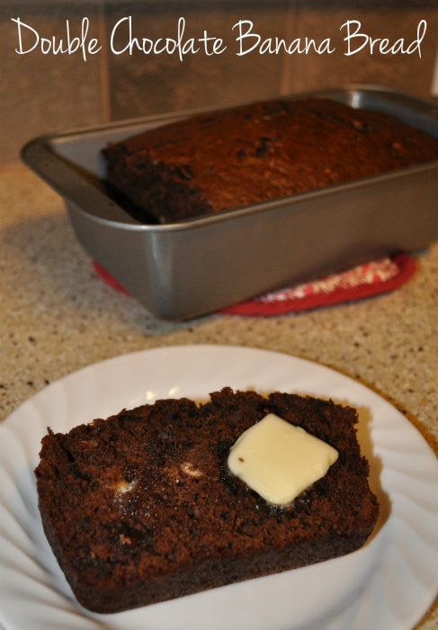 Chocolate Chocolate Chip Banana Bread