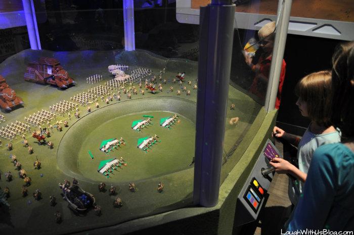 Interactive Star wars lego display