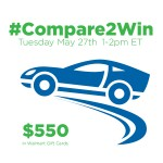 Join Me for #Compare2Win Twitter Party, Tuesday, 5/27 1 pm ET