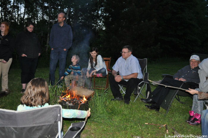 Bond Fire with family