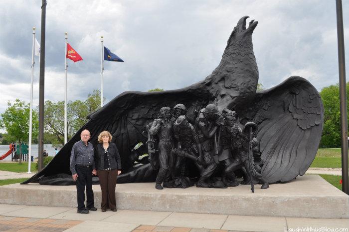 Eagle Veteren Memorial in Virginia Minnesota