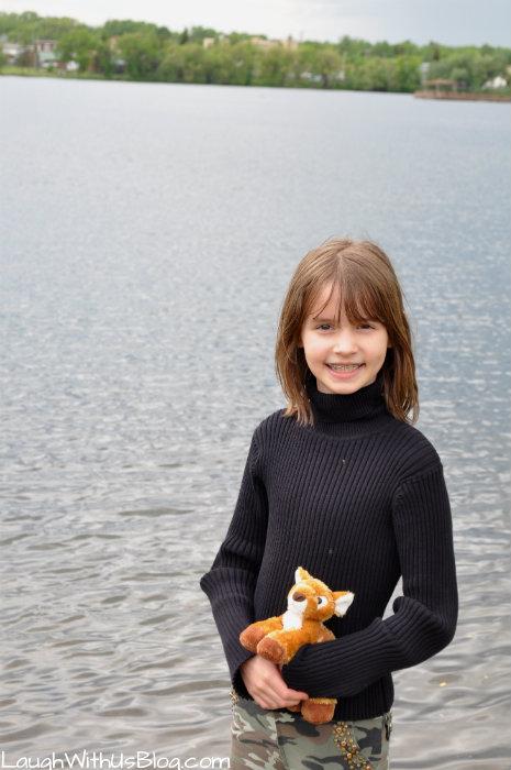 Joy at the lake in Virginia MN