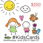 Join the #KidsCards Twitter Party Wednesday, June 25th, from 1-2 pm ET!