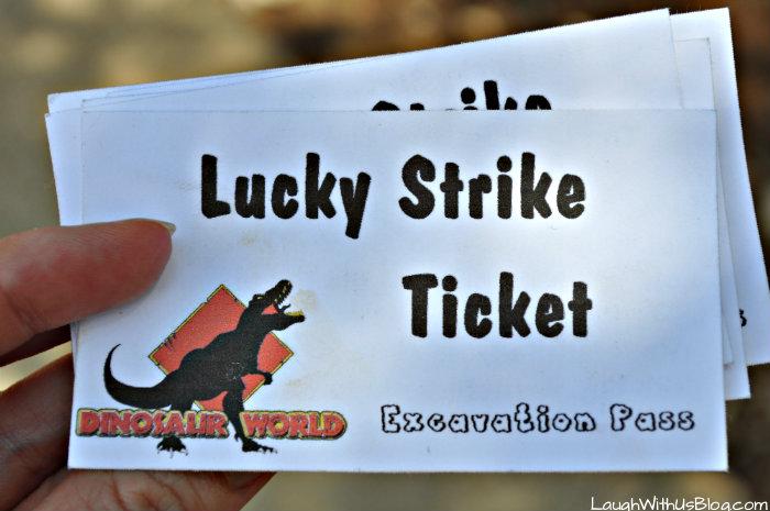 Lucky Strike Ticket Dinosaur World #ad