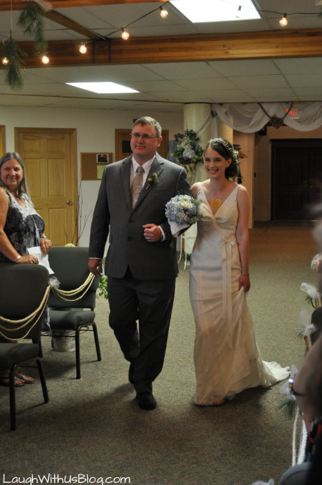 Walking Daughter down the aisle