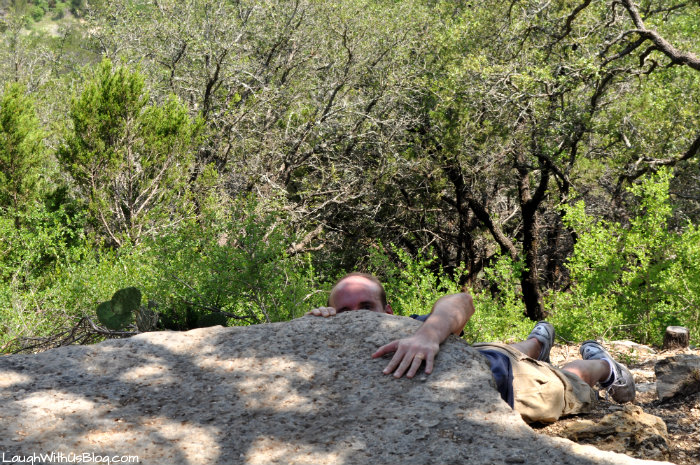 slipped on a cliff at Dinosaur Valley State Park
