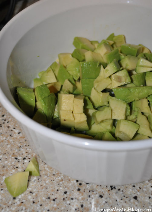 Chop avocado
