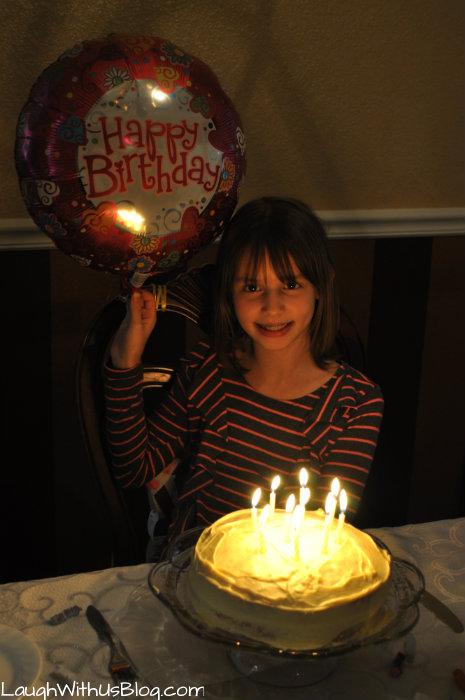Joy Birthday cake 10 years
