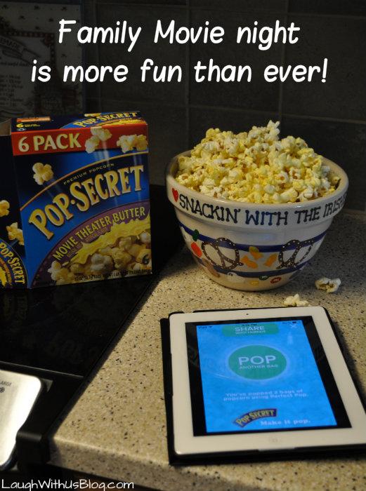 family movie night #PerfectPop app #sponsored