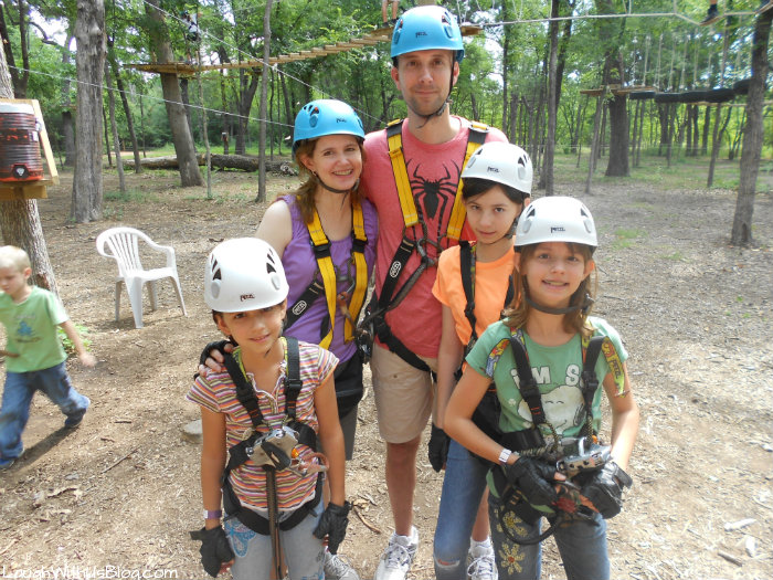 Getting ready for the Trinity Forest Adventure Park #ad