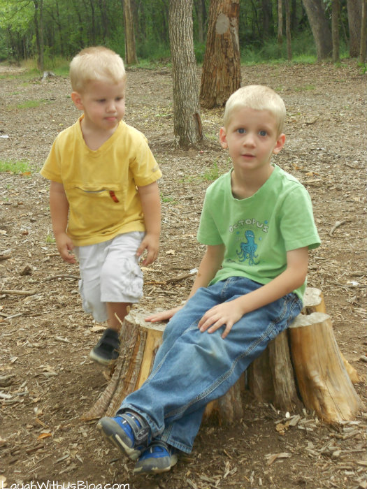 The boys at Trinity Forest Adventure Park #ad